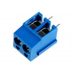 Conector Borne KRE 12mm 2 vias azul