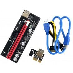 Cabo Riser Usb 3.0 009S Extensor PCI Express com Capacitores para Mineradora