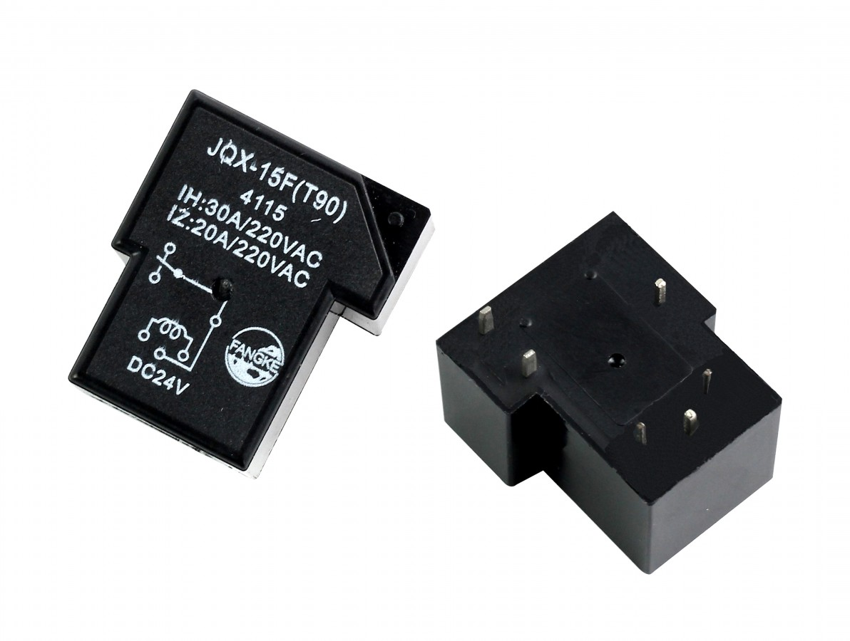 Relé 24V 30A JQX-15F (T90) 6 Pinos 1 Canal
