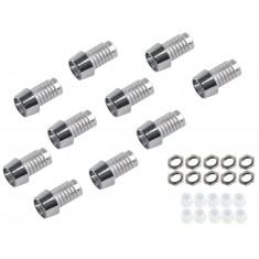 Suporte para LED 3mm Cromado com Rosca - Kit com 10 Unidades