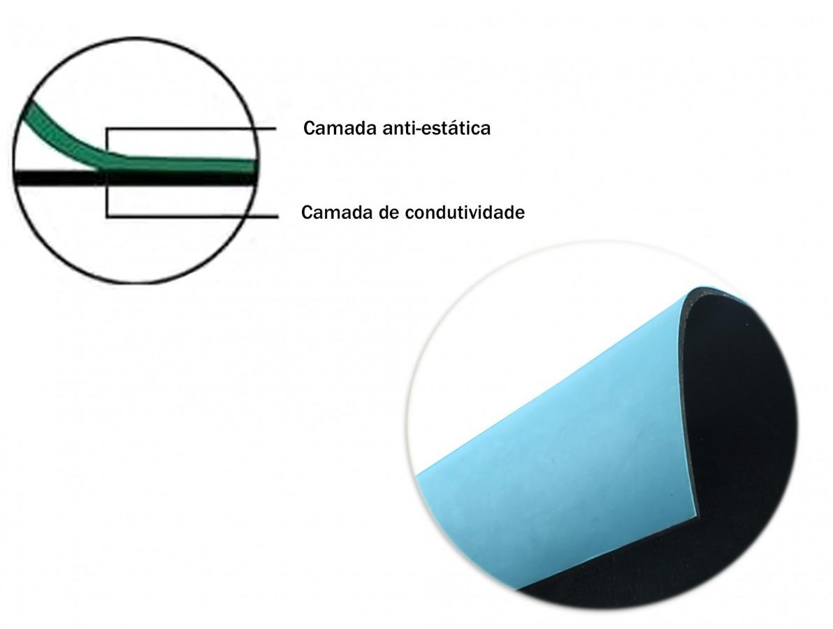 Manta Antiestática ESD para Bancada - 0,5m x 0,6m