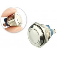 Pulsador Push Button NA 16mm em Aço Inox com Borne a Parafuso - Impermeável