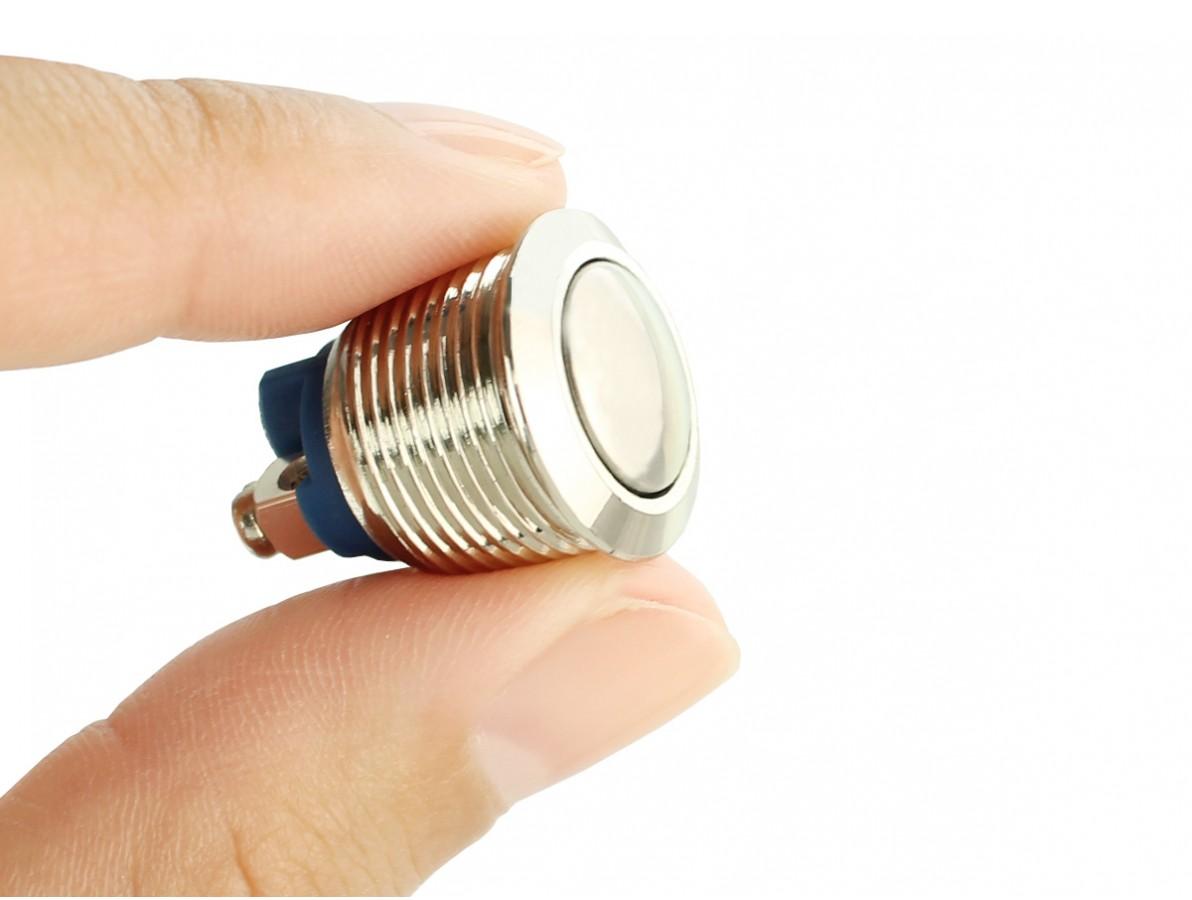 Pulsador Push Button em Aço Inox com Borne a Parafuso - Impermeável