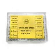 Kit Mini Parafusos M1.2 1.6mm a 5.5mm com 350 Peças para Conserto de Relógios, Óculos e Projetos
