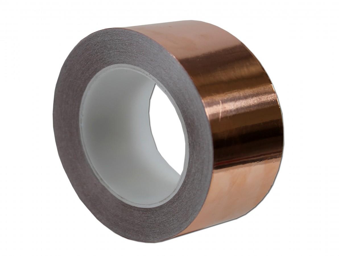 Fita de cobre para blindagem e proteção de equipamentos - 70mm x 30m