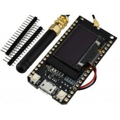 ESP32 LoRa TTGO SX1276 868/915MHZ de Longo Alcance com Display OLED e Bluetooth