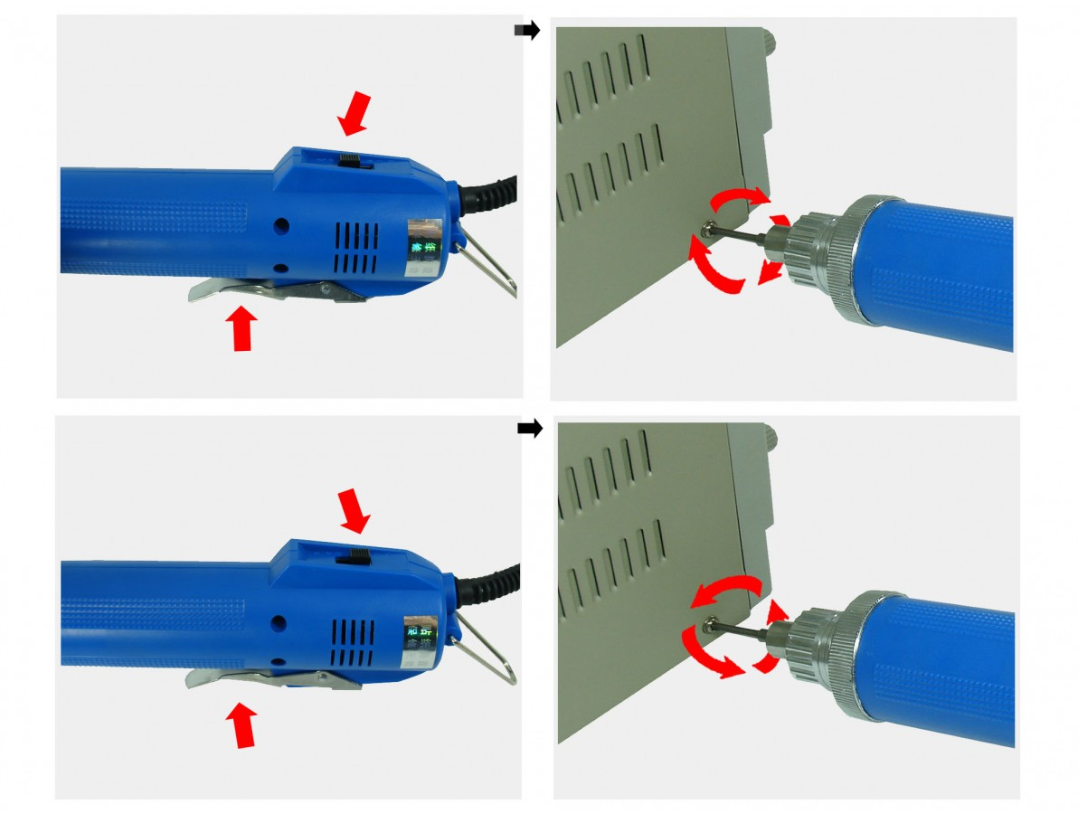 Parafusadeira elétrica com conector fêmea padrão ideal para bancadas e linhas de montagem - DN4CA