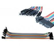 Jumper Premium para Protoboard Macho-Fêmea 20 cm - Kit c/ 20 peças