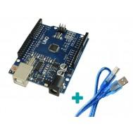 Placa Uno SMD Arduino + Cabo USB