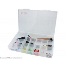 Caixa Organizadora 30x19,5x4,8cm com 16 Divisórias - Grande