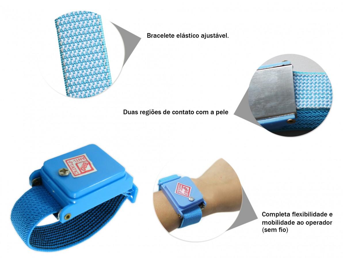 Pulseira Antiestática sem fio para proteção ESD