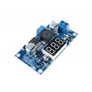 Regulador de Tensão  Ajustável LM2596 DC Conversor Step Down (Para Menos) com Display - Saída 1,25V a 37V