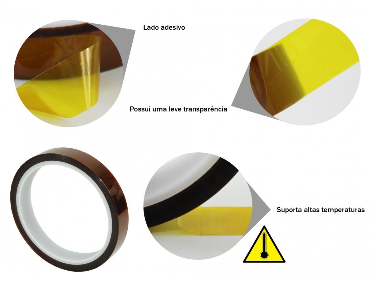 Fita kapton de poliamida resistente a altas temperaturas - 33m x 15mm