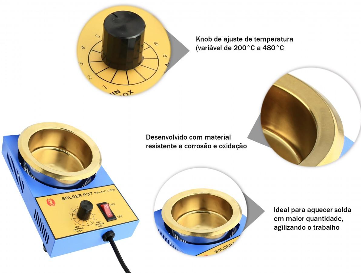 Cadinho de solda para aquecimento 300W / 300mL - PH 41C