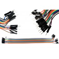 Jumper Premium para Protoboard Macho-Macho 30 cm - Kit c/ 20 peças