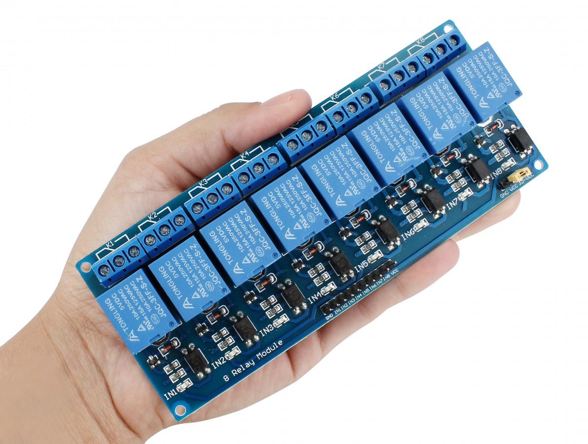 Módulo Relé 8 canais 5V com Optoacoplador para Arduino e Raspberry PI