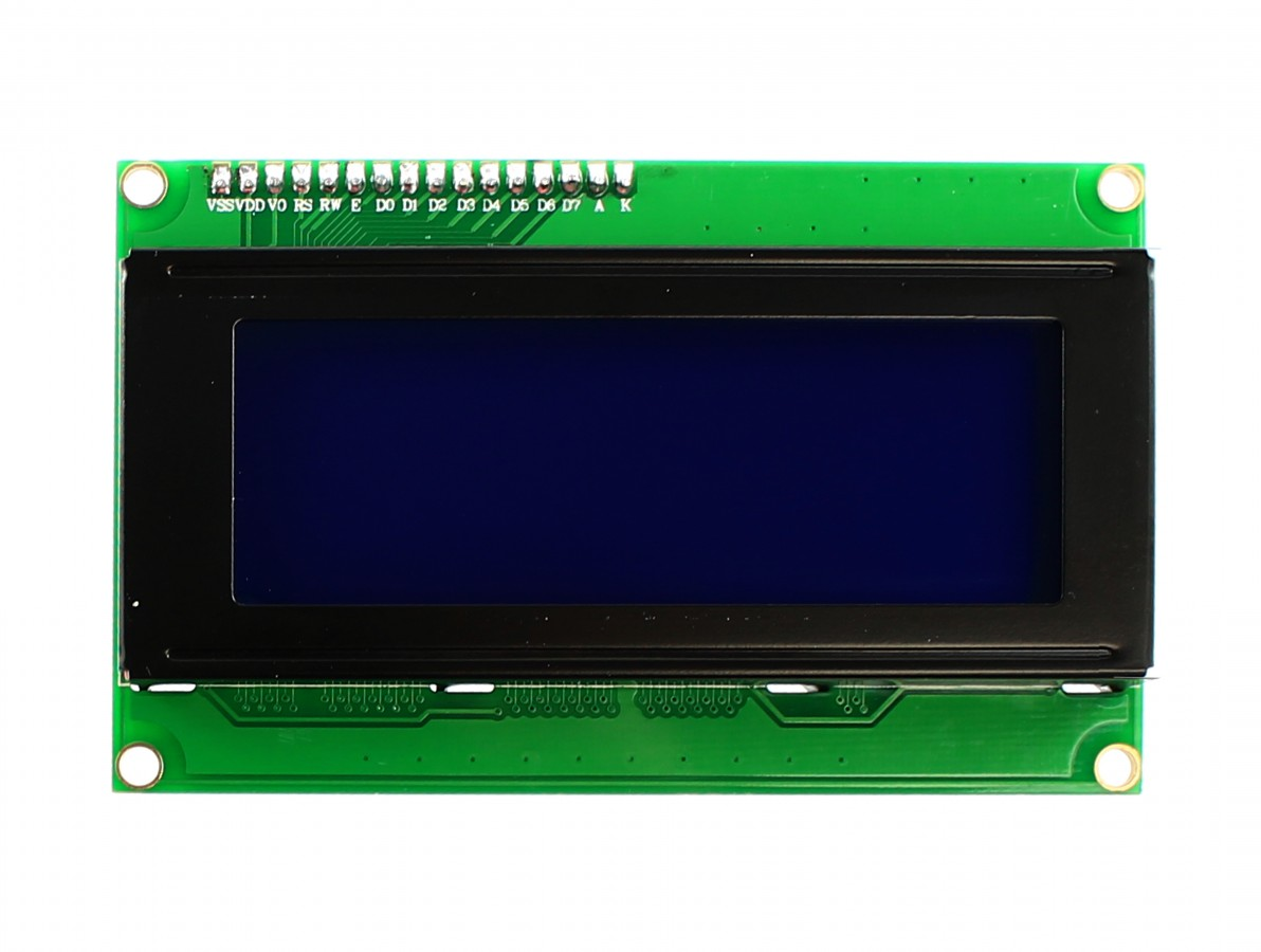 Display LCD 20x4 com fundo azul