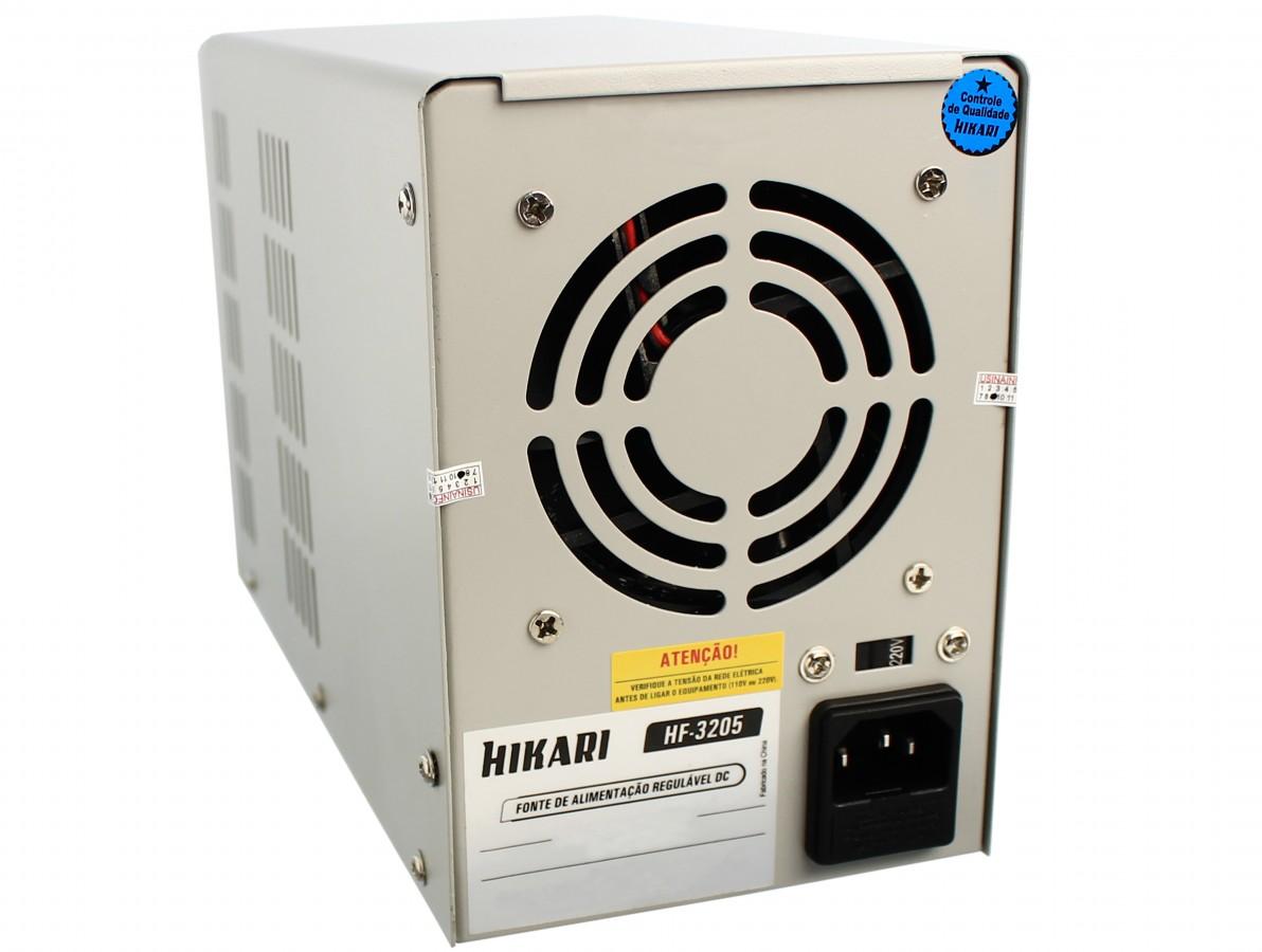 Fonte de alimentação digital regulável 32V 5A - HF-3205 Bivolt 110/220V HIKARI