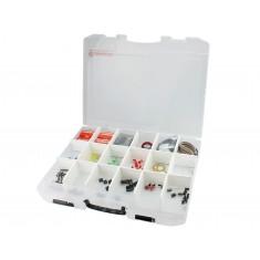 Caixa Organizadora tipo Maleta 38,7x29,6x5cm com 18 Divisórias Ajustáveis