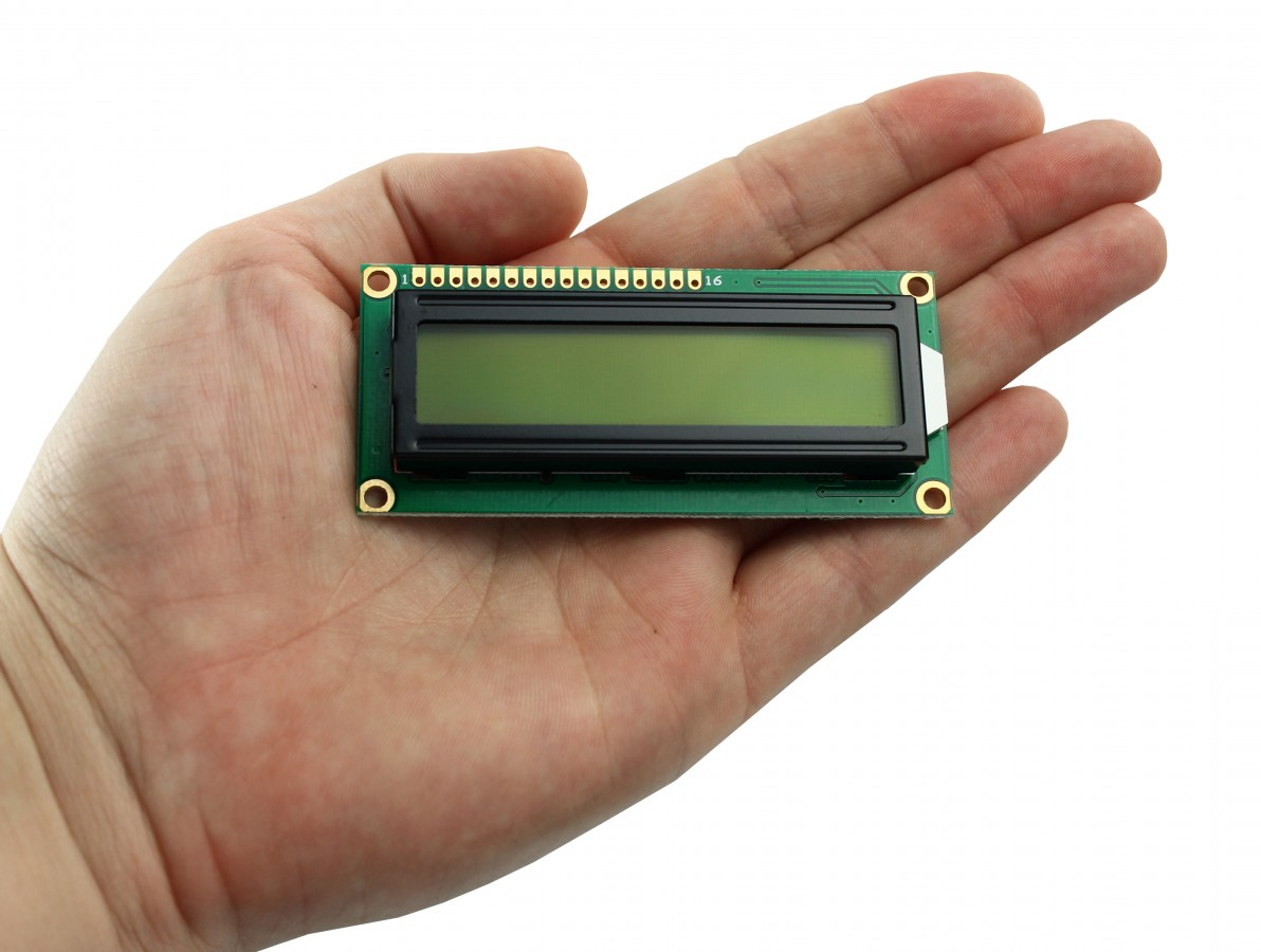 Display LCD 16x2 com fundo verde