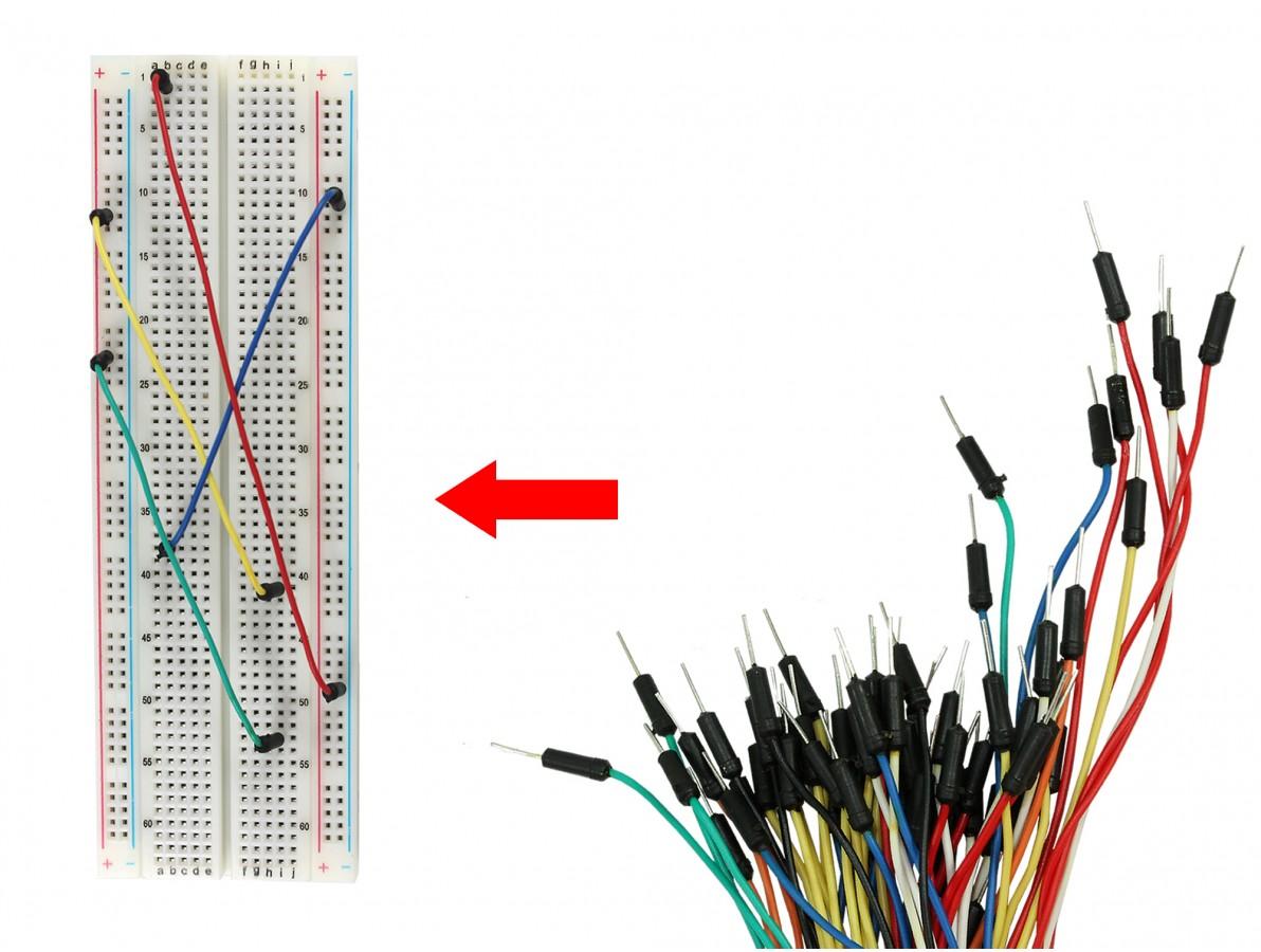 Jumpers para Protoboard - Kit com 65 conectores macho-macho