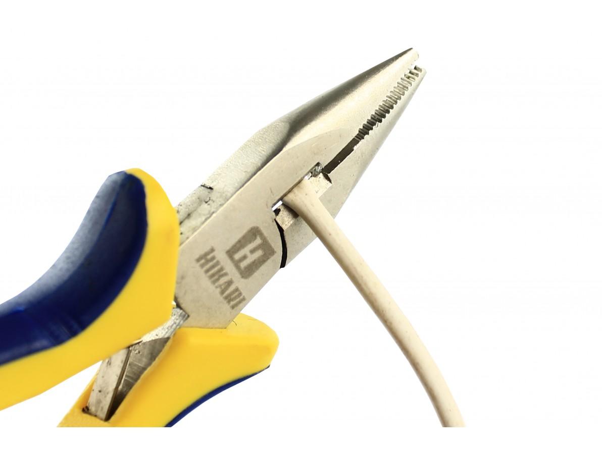 Alicate de bico meia cana reto de aço carbono 125mm (5'') - Hikari