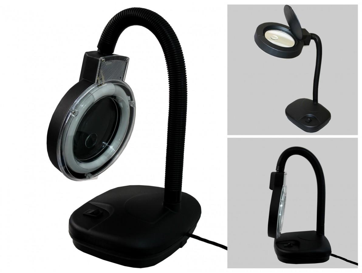 Lupa de Bancada Articulável com Lente Bifocal de 5D e 20D - Yaxun 139 127V
