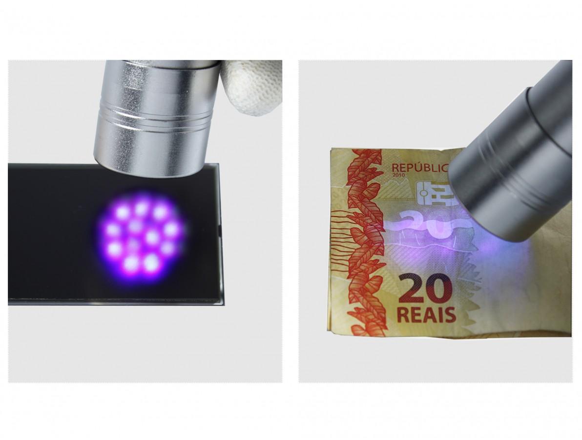Lanterna ultravioleta (UV) 12 lâmpadas LED