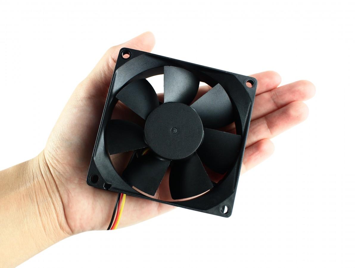 Cooler para PC e Projetos 80x80mm / Mini Ventilador 12V - Evercool