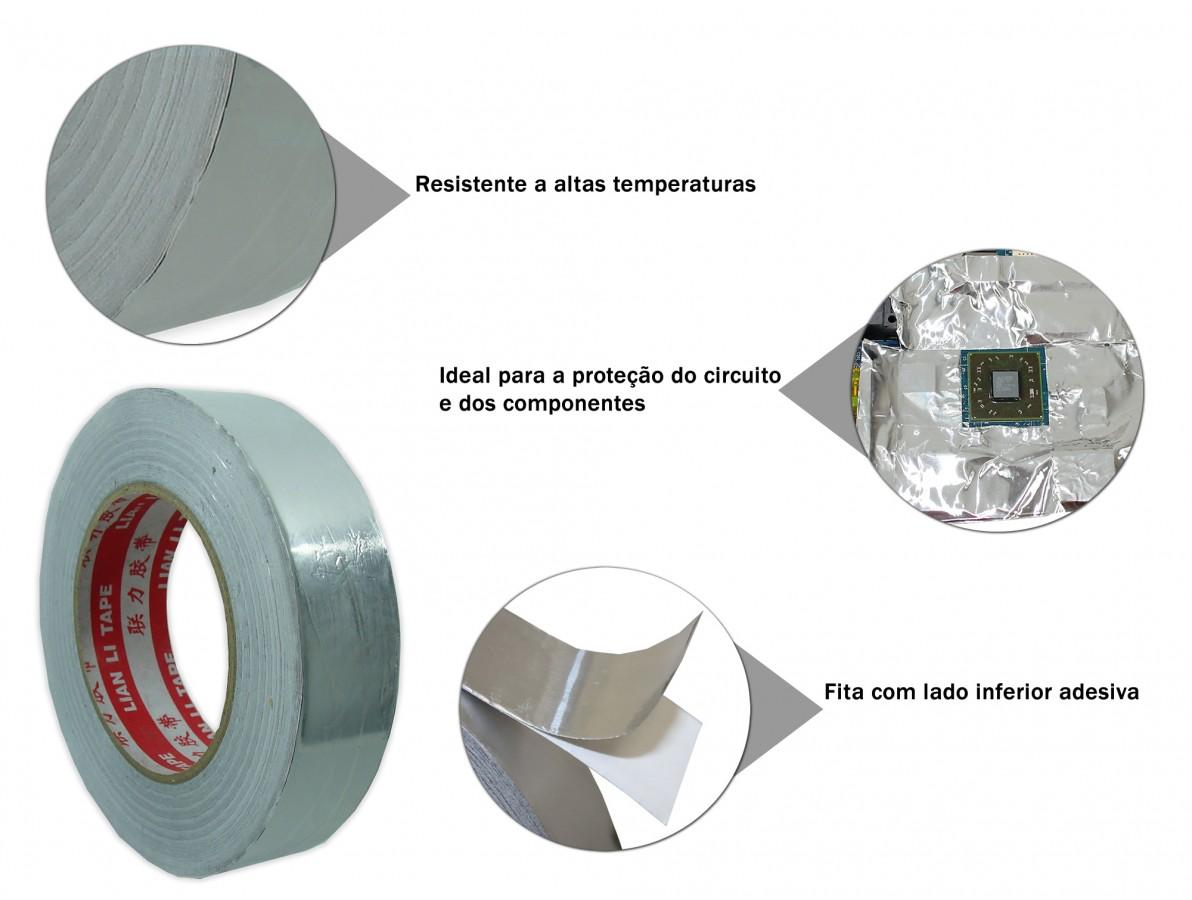 Fita alumínio para retrabalho em PCI's - 30mm