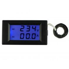 Voltímetro AC Digital com Amperímetro 100A / 80 a 300VAC - D69-2042