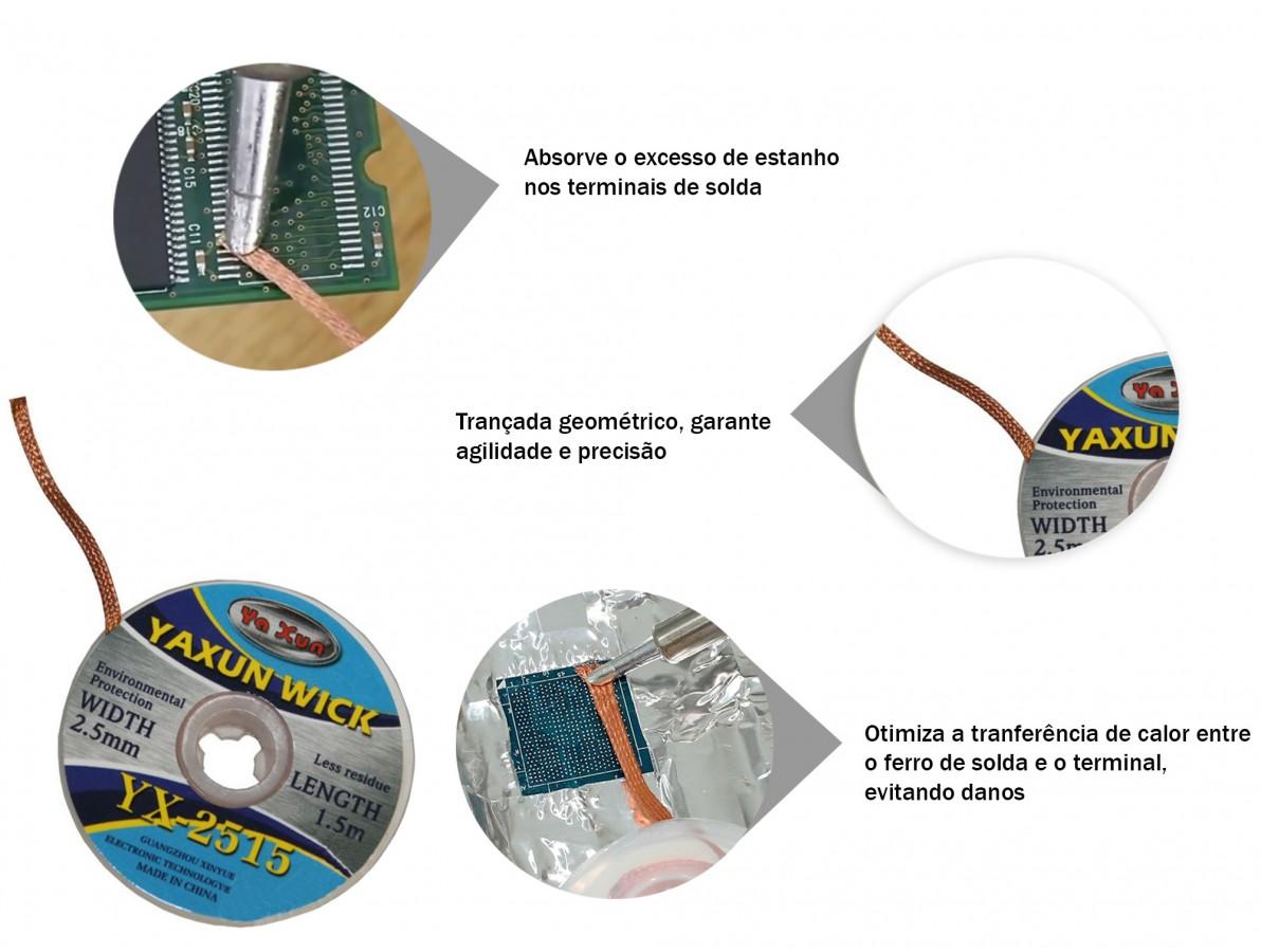 Malha Dessoldadora de Cobre - YX 2515 (2,5mm)