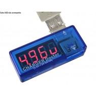 Testador USB com Amperímetro, Voltímetro e Conexão 90°
