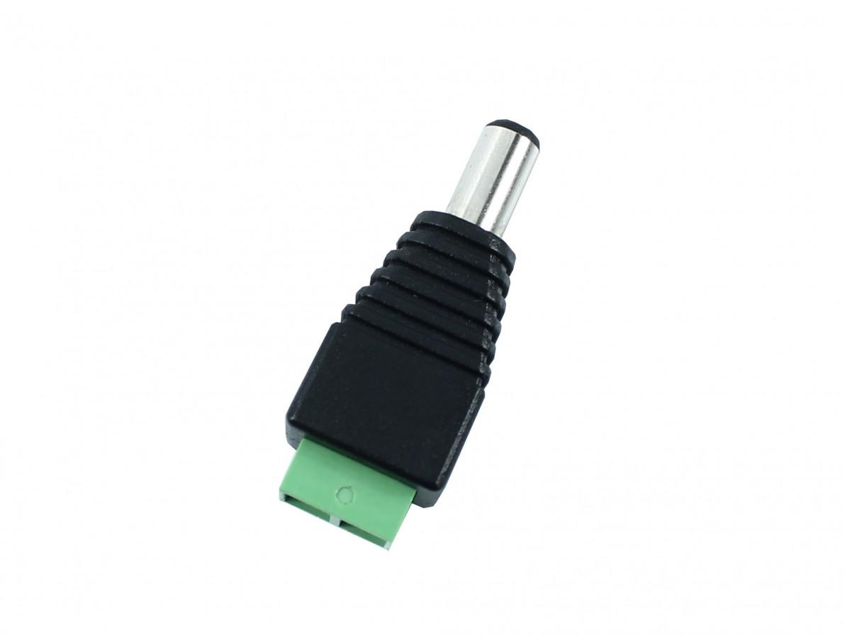 Plug P4 macho com bornes para conexão de fio