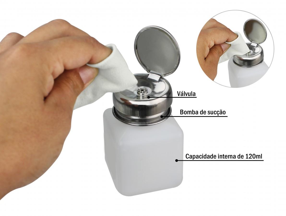 Dispenser / Pote para álcool isopropílico, fluxo e líquidos em geral - 120mL - YX40