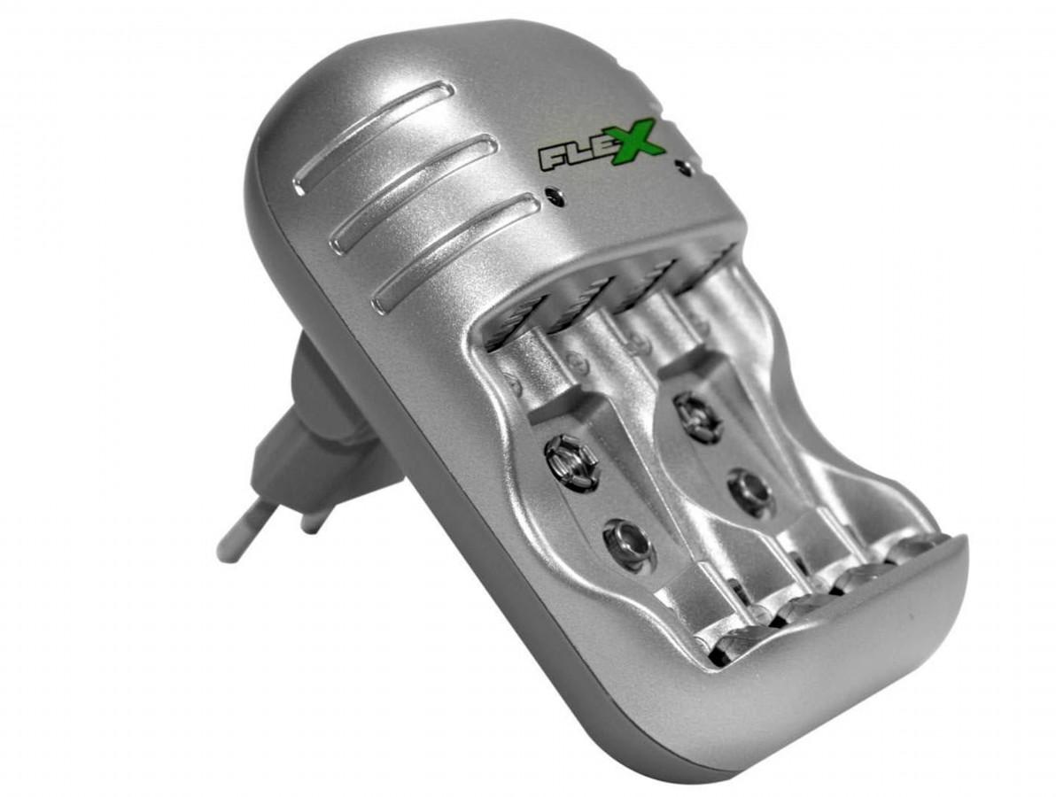 Carregador de Pilha AA / AAA e Bateria 9V Duplo Bivolt - FXC03