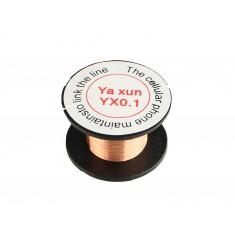 Fio de Cobre Esmaltado Soldável 0.1mm 38AWG  - Yaxun YX0.1