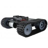 Robô Explorador Hector / Tanque tipo Lagarta 2WD - Kit Chassi em Alumínio