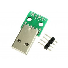 Módulo Adaptador USB Macho para DIP