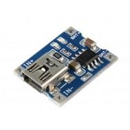 Módulo Carregador de Bateria Li-Ion TP4056 com Mini USB