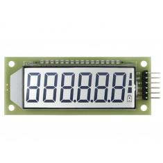 "Display 7 Segmentos 6 Dígitos LCD 2,4"" HT1621 Arduino com Fundo Branco"