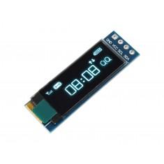 "Display OLED 0.91"" I2C 128x32 Branco para Arduino"