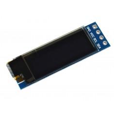 "Display OLED 0.91"" I2C 128x32 Azul para Arduino"