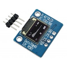 "Display OLED 0.42"" I2C 70x40 Branco para Arduino"
