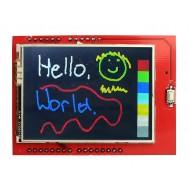 TFT LCD 2.4 Polegadas Shield Arduino Touch Screen com Slot SD
