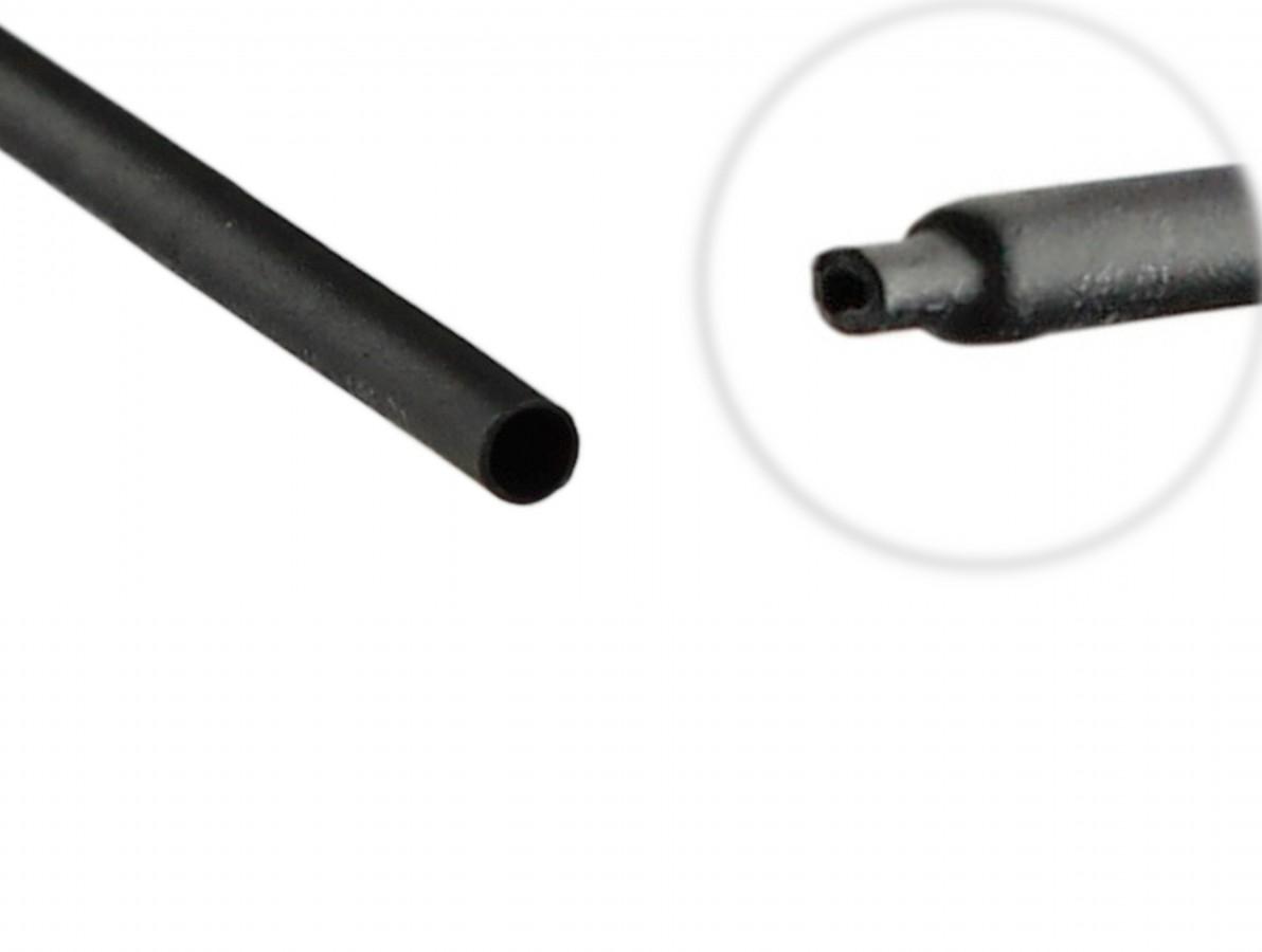 Espaguete Termo Retrátil para Isolamento 1mm Preto - Venda por metro