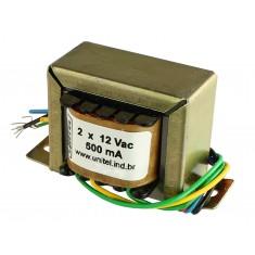 Transformador Trafo 12V + 12VAC 500mA Bivolt de Uso Geral