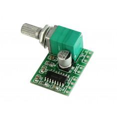 Mini Amplificador de Som PAM8403 Estéreo 2 Canais 3W + 3W com Ajuste de Volume