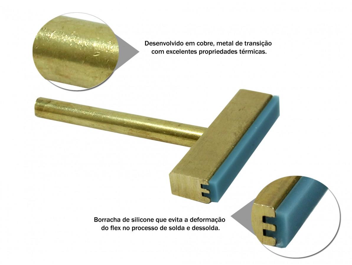 Ponta para ferro de solda 40W de cobre ideal para remoção de trilhas de flex
