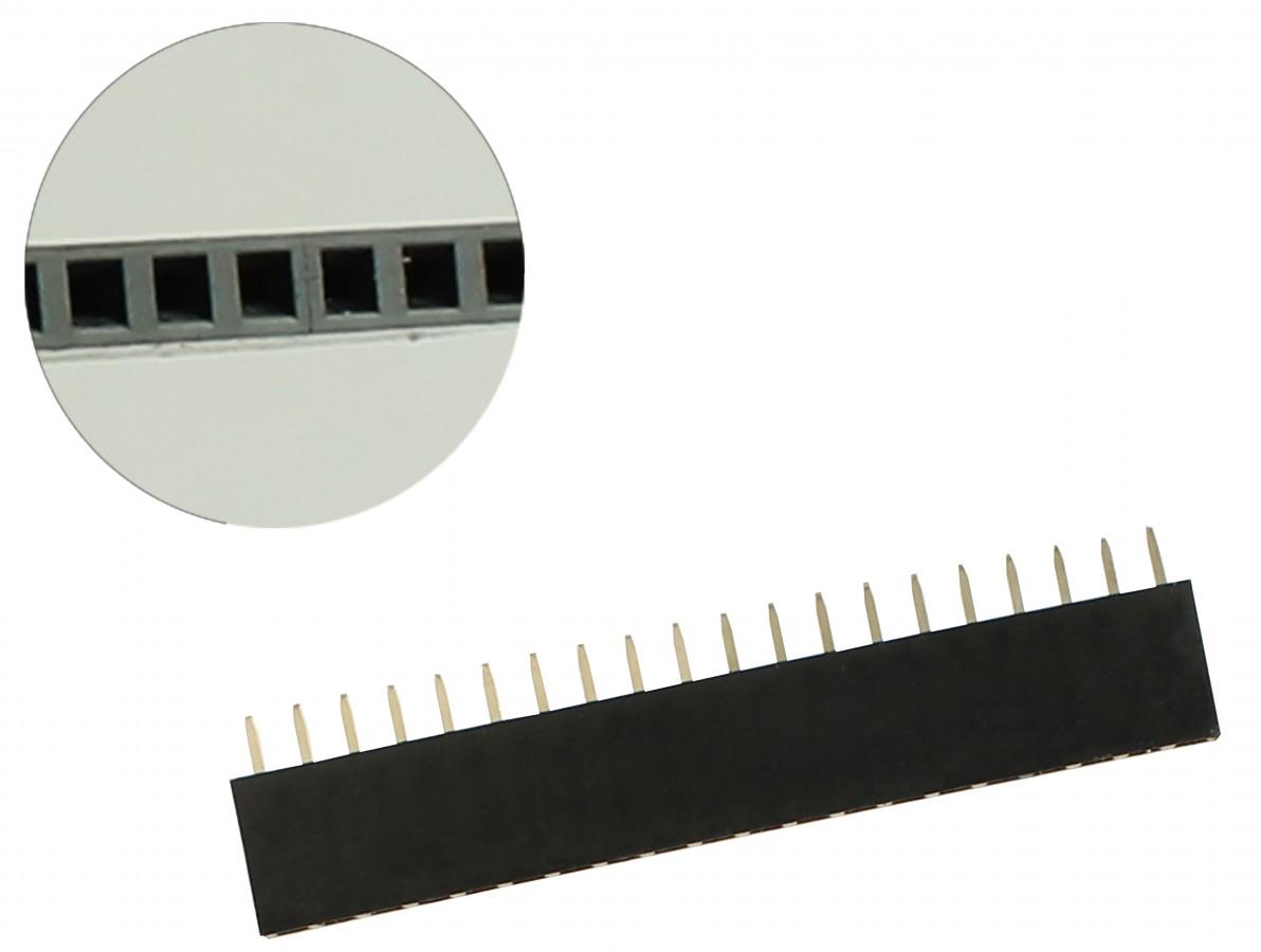 Barra de 20 pinos fêmea / Conector Empilhável para PCI